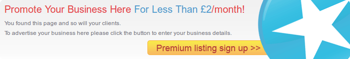 Promote Your Business Here For Less Than £2/month!